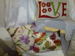 embroidered cushions decorative pretty love