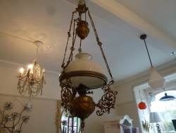 Cherub Rise and Fall ceiling light at Staveley Antiques
