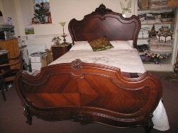 French Walnut Louis XV Style headboard  At Staveley Antiques
